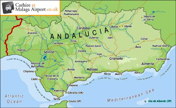 Andalucia Map - Map of andalusia